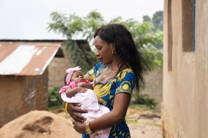 Ngitsi Kavugho was pregnant when she was infected with the Ebola virus. She and her baby survived. (Credit: WHO/C. Black)