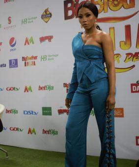 BBNaija season 4 winner, Mercy Eke , at a press briefing on Tuesday in Lagos