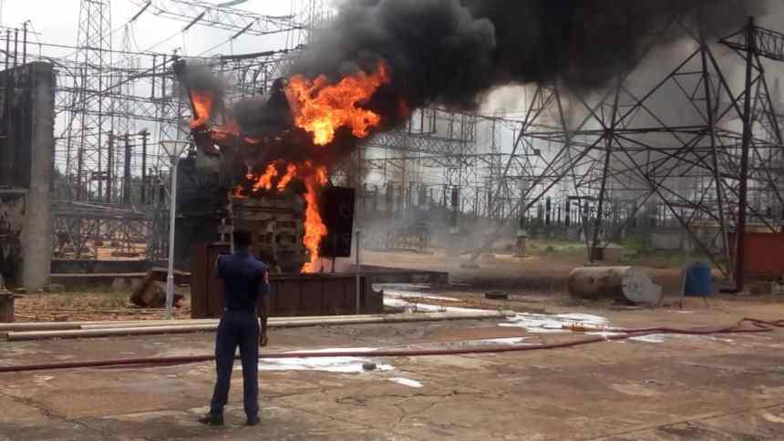 Benin substation fire June 30, 2019
