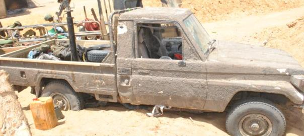 Boko Haram vehicle used to tell the story.