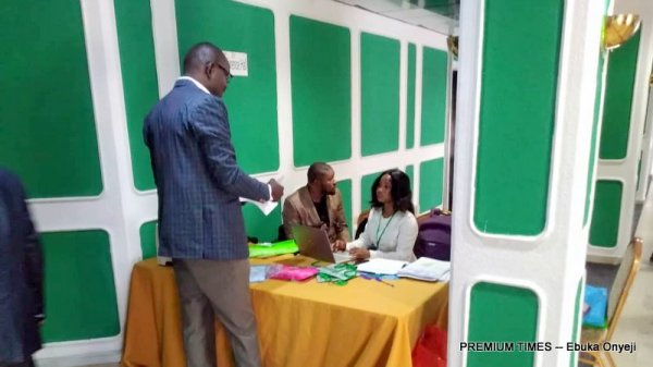 Arrival of guest at the family planning event in Abuja.