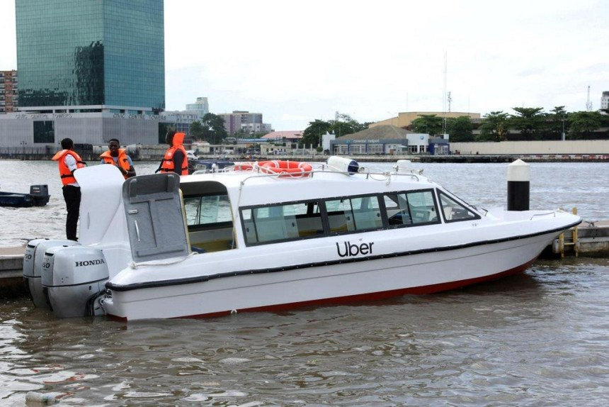 UBER BOAT launched in Lagos, Nigeria. [PHOTO CREDIT: Reuters Official Twitter handle]