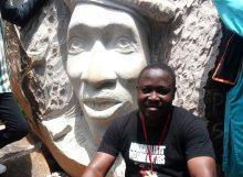 Sculpted image of Thomas Sankara