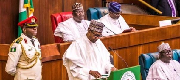 President Muhammadu Buhari presenting 2020 budget [PHOTO CREDIT: @OfficialPDP]