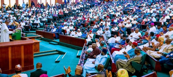 President Muhammadu Buhari presenting 2020 budget [PHOTO CREDIT: @NigeriaGov]