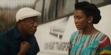 Nkem Owoh and Genevieve Nnaji in a scene in 'Lion Heart'