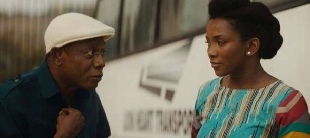 Nkem Owoh and Genevieve Nnaji in a scene in 'Lion Heart'