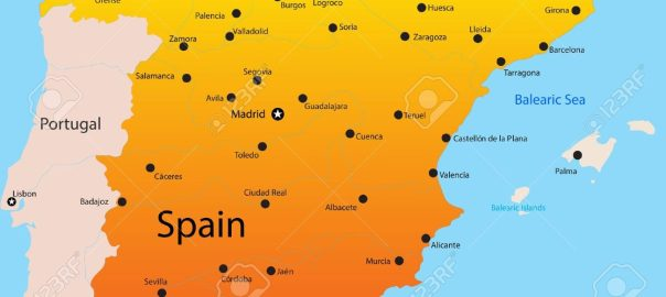 Map of Spain used to tell the story. [PHOTO CREDIT: 123RF.com]