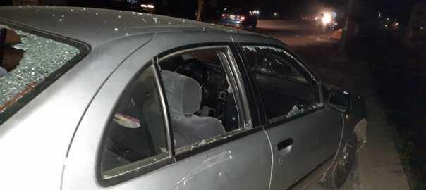 Mr Adekunle Adewumi's damaged car