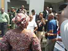 Naira Marley leaving court premises after hearing of his case