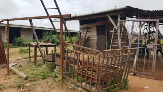 Shut welding shop of Engr Abayomi Olusada a resident of Oponua community along Ikorodu Shagamu Expressway Photo Credit Olugenga Adanikin