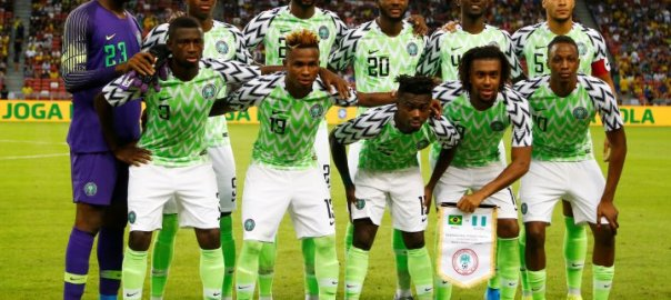 The Super Eagles of NigeriaVs Brazil. The team retains 31st position on FIFA ranking