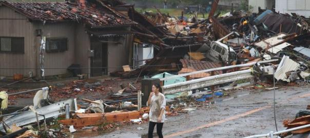 Typhoon kills 8, causes flooding, landslides across Japan