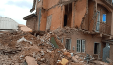 The building that collapsed