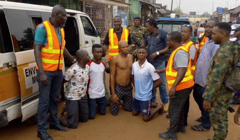 Lagos residents arrested for indiscriminate waste disposal - Premium Times