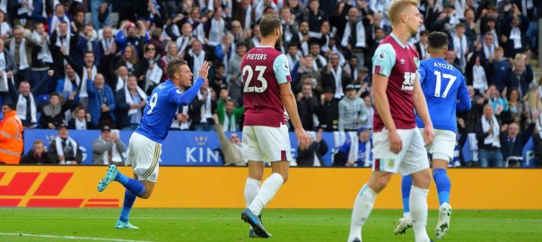 Leicester City against Burnley