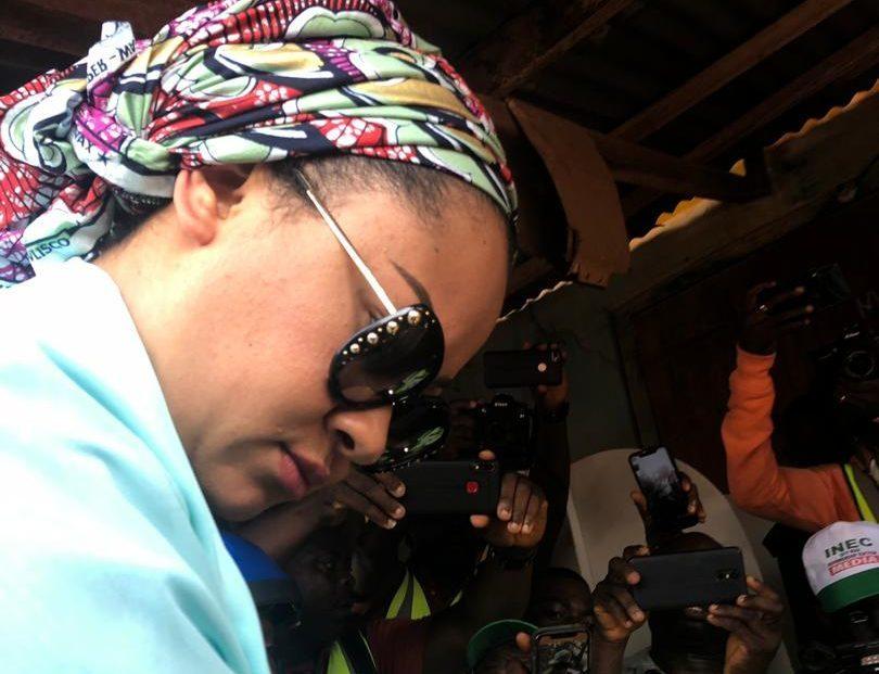 10:26am. PU 19, Adanoi's compound, Ihima, Okehi LG, Kogi state. Voting going on.Natasha's is present casting her vote