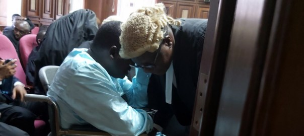 Maina arrives court in a wheelchair