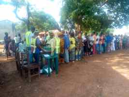 8:22am. Ward 04 (ukwaja), PU 004 (open space, women resource Centre), Idah LG