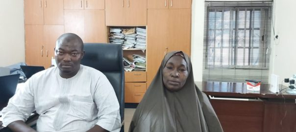 The kidnapped Widow; Lubabatu Mohammed and her son