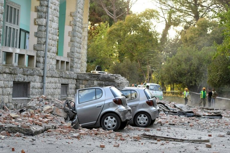 Aftermaths of the Albania earthquakes [PIX: Yahoo News]