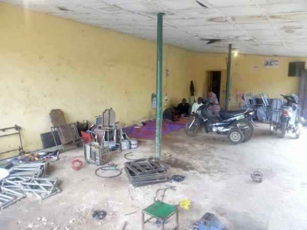 Workshop where Suleman Abdulazeez and others with disabilities work in Kaduna