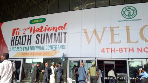 Front view of the International Conference centre where the summit is being held.