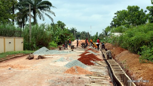 labourers on site at Ovum Obiagu Mpu