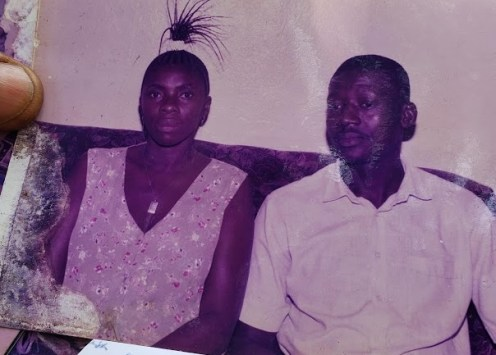 Joseph Musa and his wife in the 1990s
