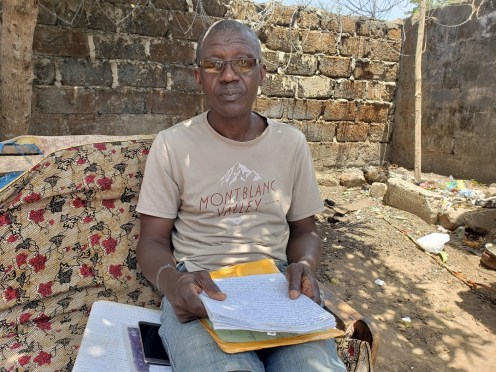 Joseph Musa in his house in Freetown