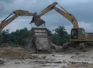 Machines used for digging @ Akad, Ilesha