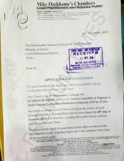 Ozekhome Attestation Letter