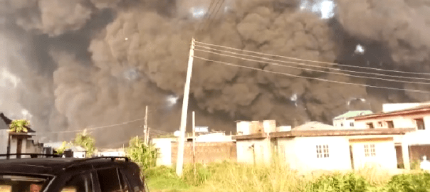 Pipeline explosion in Lagos