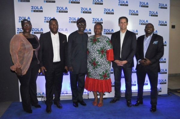 L-R, Head of Marketing, ZOLA Electric Nigeria, Mrs. Onome Odili; Chairman, ZOLA Electric Nigeria, Mr. Femi Tejuosho; 1st Customer, ZOLA Electric Nigeria, Mr. Omotayo Ajani and wife, Mrs. Olayide Ajani; Global Chief Executive Officer, ZOLA Electric, Mr. Bill Lenihan and the Managing Director, ZOLA Electric Nigeria and Executive Vice President (Expansion and Business Operations), Mr. Abdallah Khamis during the ZOLA Customer Launch for ZOLA Infinity held in Lagos recently.