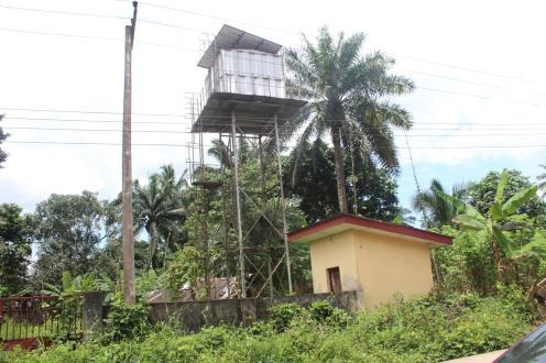 Abandoned solar-powered project at Ekpene Ukpa village