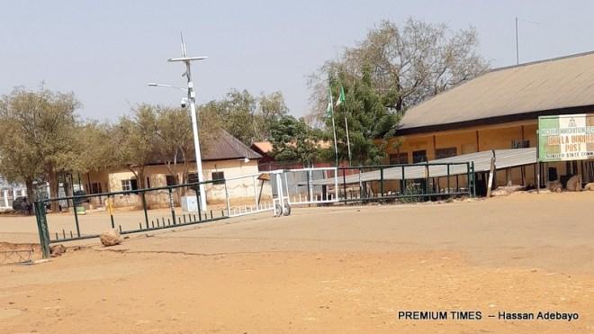 Gate of Nigeria's border with NIGER Republic, Illela, Sokoto State.