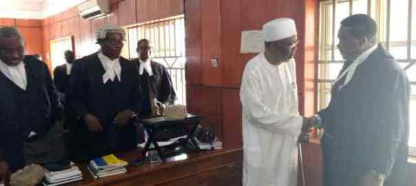 Mohammed Adoke in court used to illustrate the story. [PHOTO CREDIT: Vanguard]