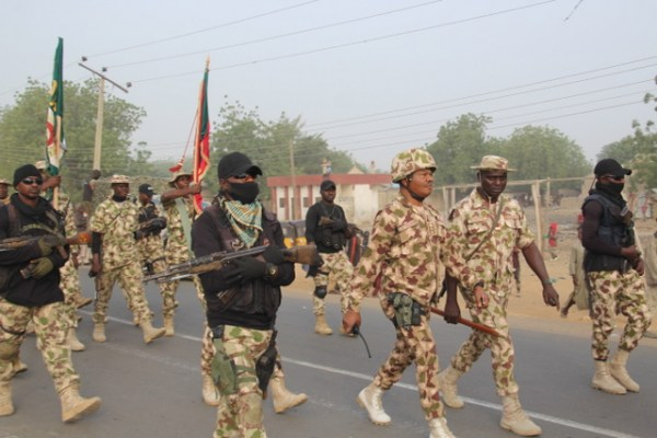 Col. Ugorji marching with his officers