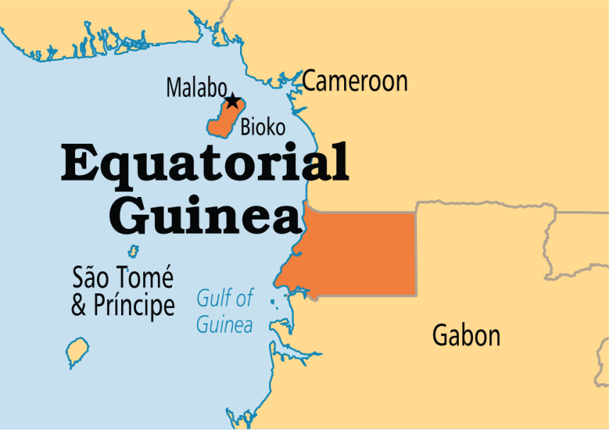 Equatorial Guinea used to tell the story. [PHOTO CREDIT: