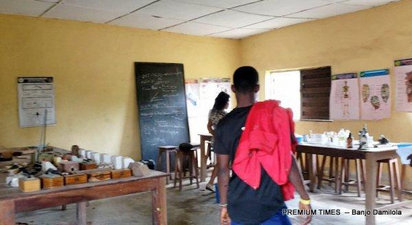 Laboratory at Mmahu Secondary School