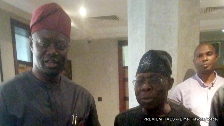 Former President Olusegun Obasanjo and Oyo State governor, Seyi Makinde