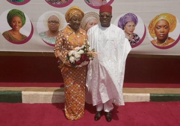 Gov. Umahi with Mrs Betsy Obaseki