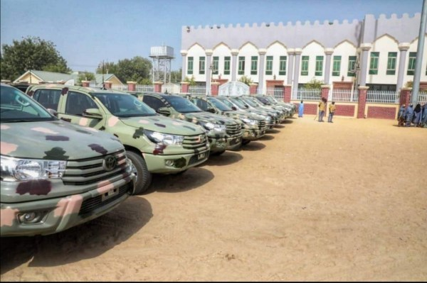 Borno governor gives army, police, others 70 vans