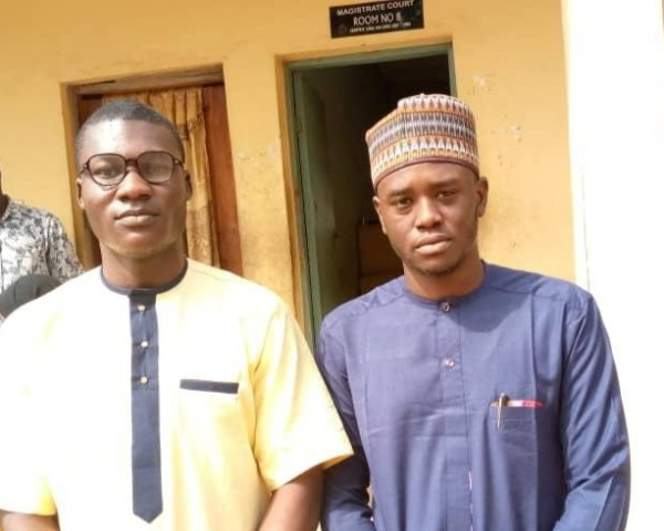 Alfred Olufemi and Gidado Yishau, NewsDigest's editor after the court session of Monday