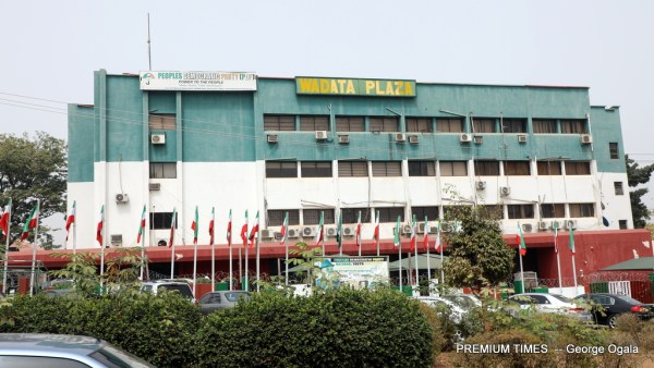 WADATA PLAZA, Abuja, National secretariat for the Peoples Democratic Party (PDP).