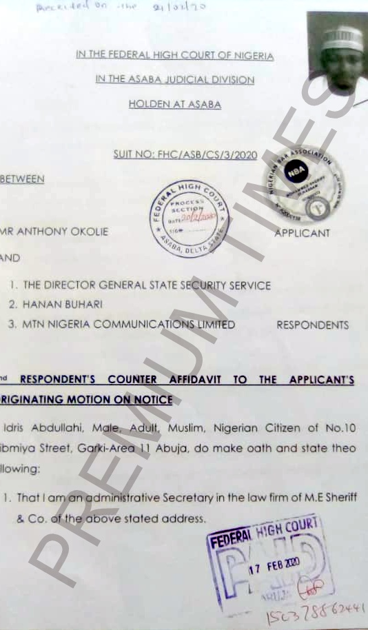 MTN Sim:  Buhari's daughter disowns SSS over illegal arrest of Anthony Okolie