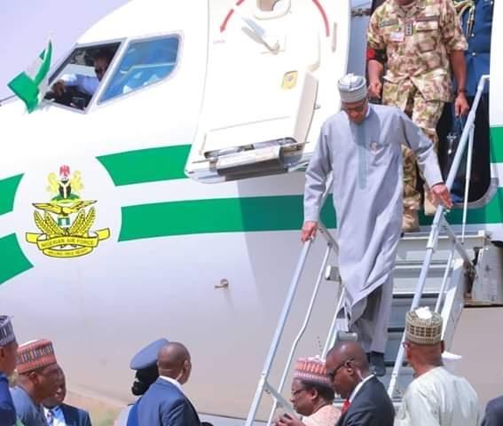 Buhari arrives Maiduguri over Boko Haram attack