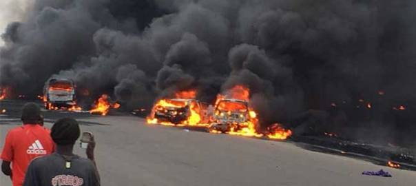 Lagos tanker explosion used to illustrate the story.