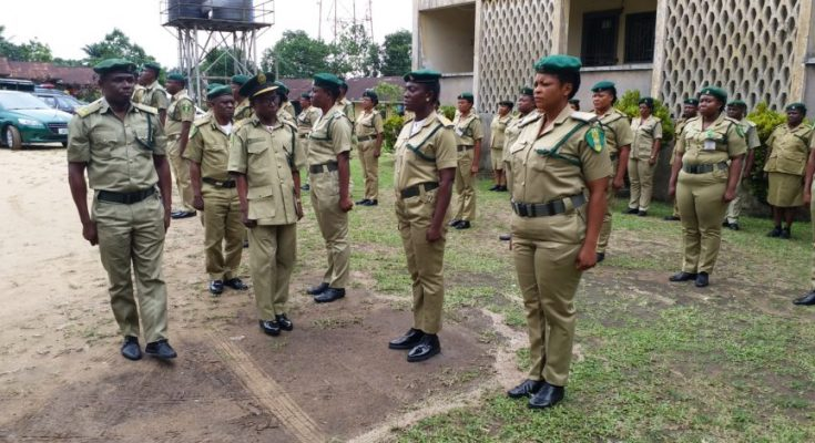Officers of the Nigeria Correctional Service.
