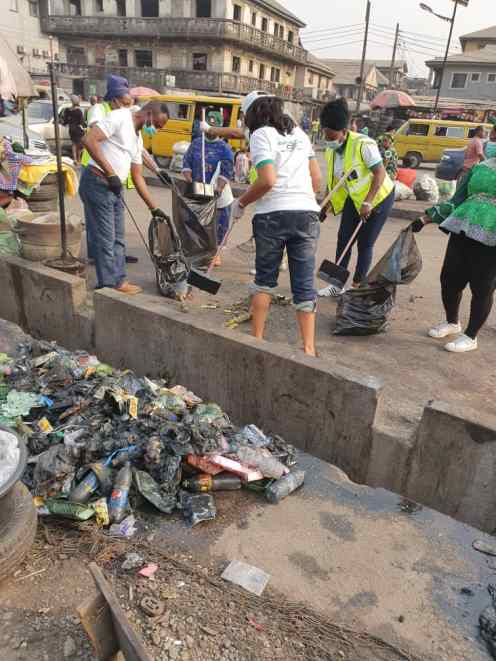 2. The group said cleaning the environment is a part of their contribution to the community.